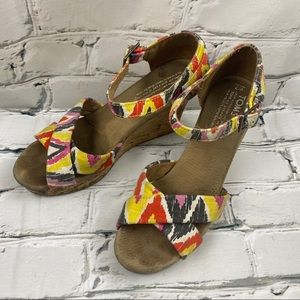 Toms colourful wedge heels